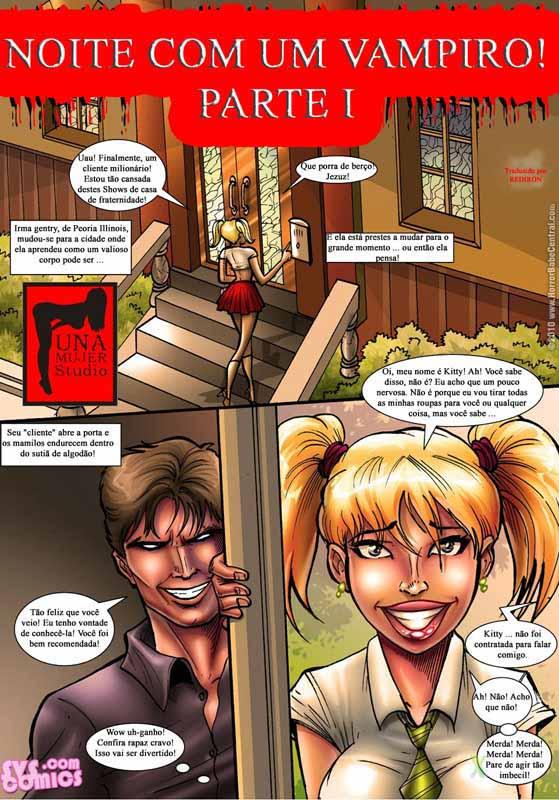 Noite com um vampiro – quadrinhos porno