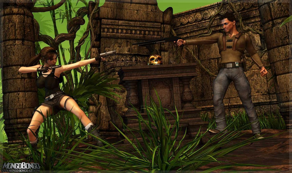 Lara e Nathan – Quadrinhos Porno – 3D