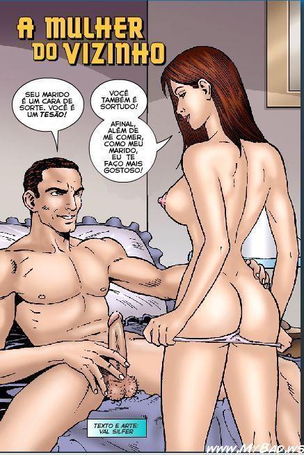 Mulher gostosa do vizinho – Quadrinhos Eroticos