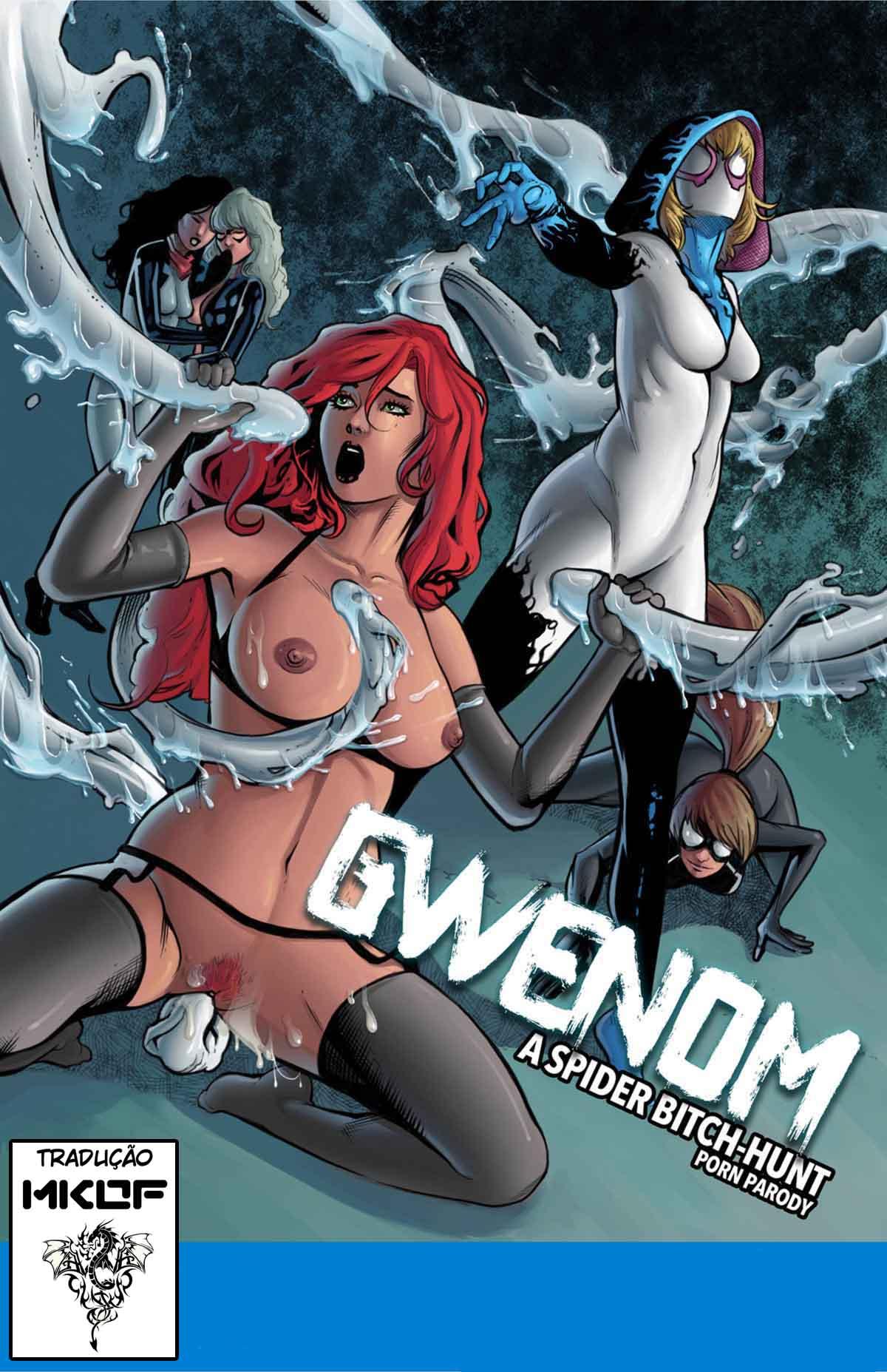 Gwen em mutação shemale-Quadrinhos Porno