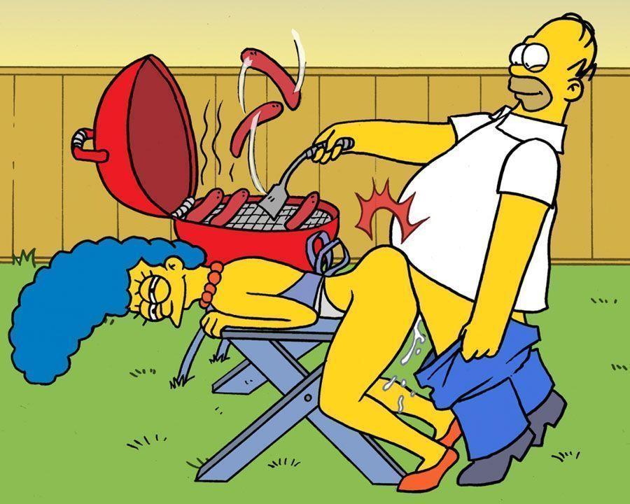 Simpsons em sexo no churrasco – Desenhos Eroticos