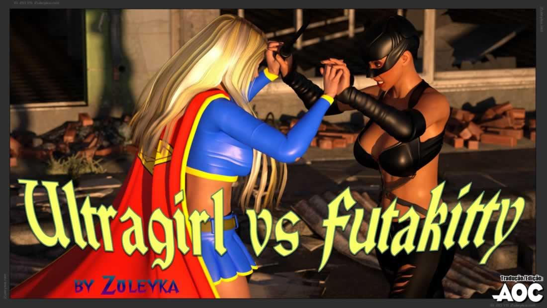 Ultragirl e futakitty–Quadrinho Erotico-Futanari