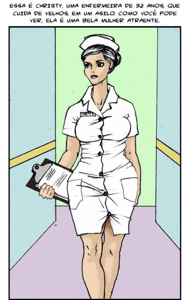 Enfermeira bucetuda recebendo pirocada