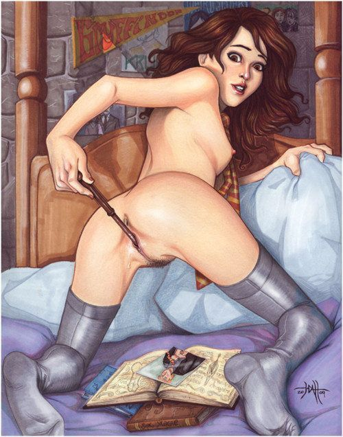 Hermione metendo a varinha na xana